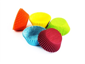 PIROTTINI TONDI PER CUPCAKE MM 50 H 30 COLORATI PZ 1000
