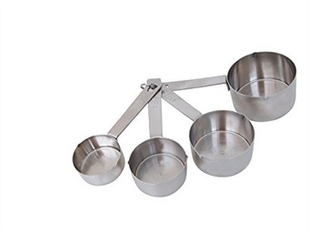 SET DI MISURINI INOX A TAZZA ML 60-80-125-250