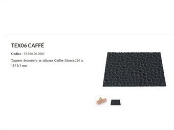 TAPPETINO IN SILICONE TEXTURE MOD COFFEE CM 25 X 18,5 H 0,6